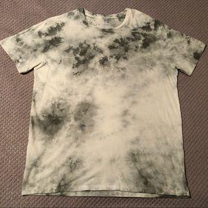 Alternative White/Grey Tie Dye Soft Cotton T-Shirt